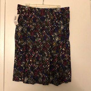 LuLaRoe 2XL Madison skirt with pockets